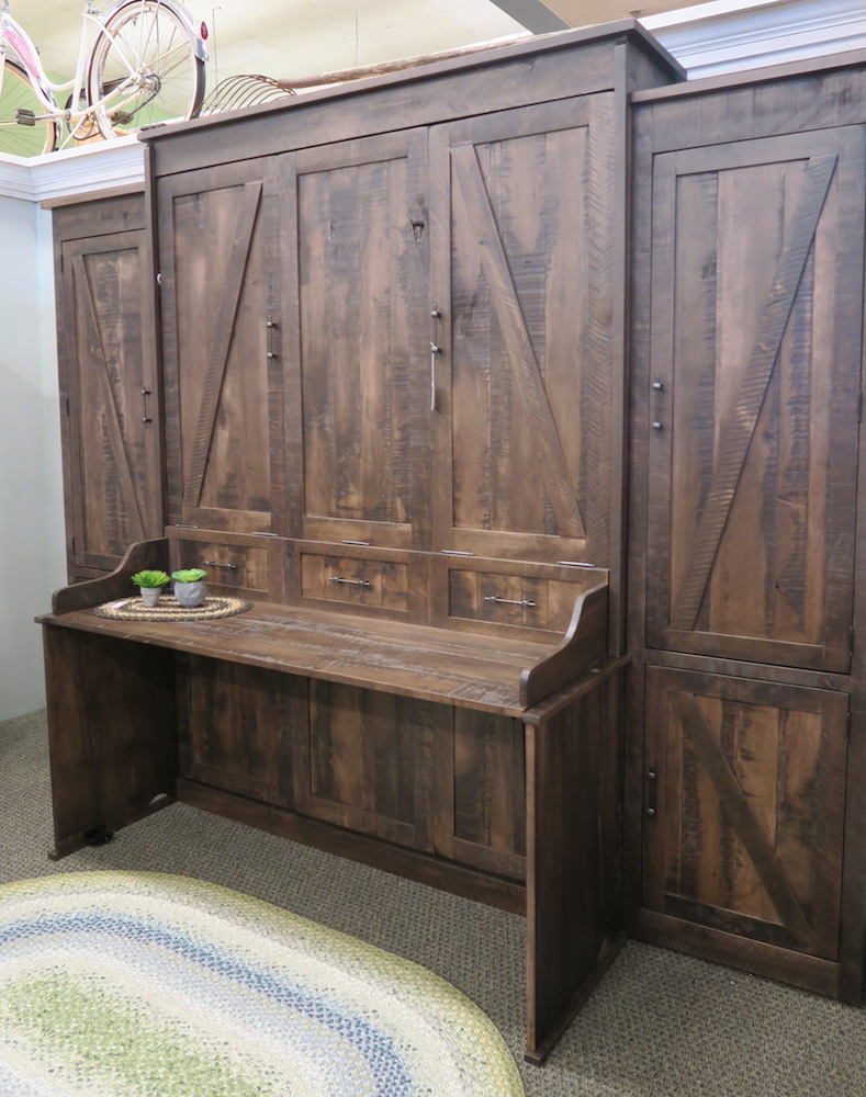Murphy Beds Bradenton Fl : Rustic desk murphy bed dutch haus custom furniture